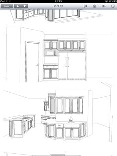 More cabinet drawings Italian Kitchen Decor, Fall Kitchen Decor, Living Room Chairs, Lounge Chairs, Cabinet Makers, Cabinet Furniture, Custom Cabinets, Interior And Exterior, Countertops