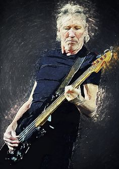 roger waters, pink floyd, progressive rock, psychedelic rock, art rock, Richard wright, nick mason, syd barret, David gilmour, bassist, vocalist, music, musician, band, the wall, the dark side of the moon, wish you were here, great bookham, surrey, England, english, British, fan art, rock star, wall art, poster, decorative, decoration, home decoration, cafe, bar, restaurant, hotel, vector, painting, portrait, guitar, guitarist, illustration, digital, drawing, legend, fender precision bass