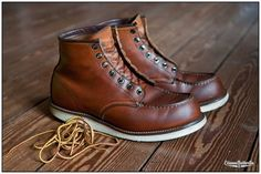 How To Wear Red Sneakers Men Menswear Botas Red Wing, Red Wing Boots, Boots Cuir, Leather Boots, Leather Mask, Red Wing Moc Toe, Mens Boots Fashion, Red Sneakers, Cool Boots