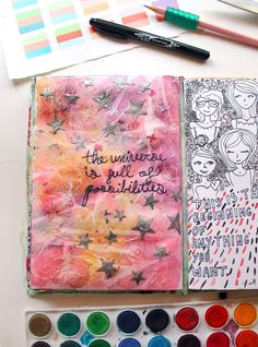Possibilites | An art journal page by @punkprojects Katie Smith