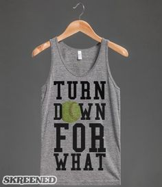 For What softball tank top tee t shirt