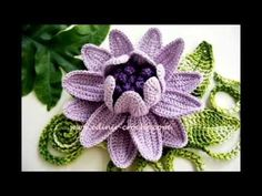 video háčkované květiny