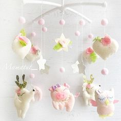 Greetings in my magic workshop. Production time 1-2 weeks Childrens mobile sleepy animals. This fabulous mobile will not leave your baby indifferent. Will be a wonderful gift for a birthday or Christmas. A friendly company of sleepy beasts will give a coziness to the childrens room. The