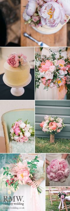 Pink Peony Wedding Flowers | http://www.rockmywedding.co.uk/peony-perfection/