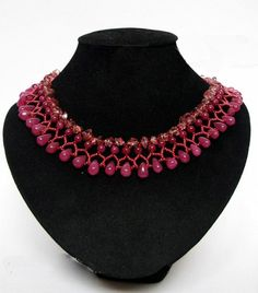 Free Pattern For Beaded Necklace Fuksia | Beads Magic