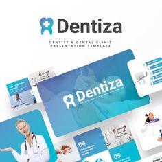 Dentiza - Dentist & Dental Clinic Powerpoint Template Corporate Presentation, Presentation Templates, Happy Dental, Dental Logo, Dentistry, Clinic, Advertising, Design
