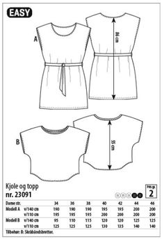 MØNSTERFra Stoff & StilBruk modell A som mønster. Dette mønsteret har en lengde som går over knær...