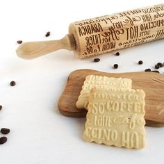COFFEE PATTERN  Embossing rolling pin laser engraved by Texturra