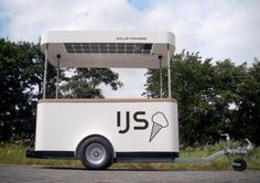 Solar-Powered Ice Cream Cart Keeps Frozen Treats Cool In The Summertime