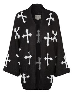 GOTHIC CROSSES - Cardigan - black
