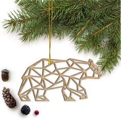 Laser Cut Event and Home Decor: Wall Art | Ornaments | Wedding Decor | Cake Toppers | Home Decor | Ring Holders | Jewelry: Wilderness Collection | Wall Art | Ornaments | Wedding Decor | Home Decor | Ring Holders | Jewelry This Geometric Bear will be the perfect addition to your Holiday