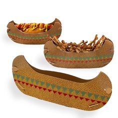 Wild West Party Canoe Serving Bowls