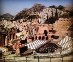 Teatro Greco in Taormina, Sicilia