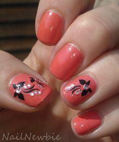 Revlon Tropical Temptation #nails #nailart  Nail Newbie: May 2012