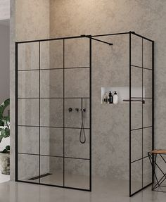 New Trendy New Modus Black - Kabina prysznicowa, cm Bathroom Design Inspiration, Modern Bathroom Design, Bathroom Interior Design, Interior Decorating, Gray Shower Tile, Small Bathroom With Shower, Master Bathroom, Shower Cabin, Comfy Bedroom