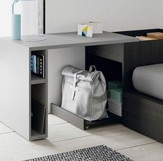 Decorate your room in a new style with murphy bed plans Smart Furniture, Space Saving Furniture, Furniture Design, Home Furniture, Tiny House Furniture, Home Office Design, Home Interior Design, House Design, Small Room Bedroom