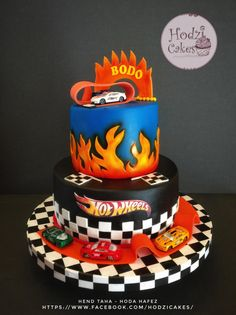 Hot Wheels Cake for sweet AbdelRahman 😍😍🚗🚕🚙🚐 Hot Wheels Party, Bolo Hot Wheels, Hot Wheels Cake, Hot Wheels Birthday, 2nd Birthday Party For Boys, Baby Birthday Themes, Race Car Birthday, Cars Birthday Parties, Hotwheels Birthday Cake
