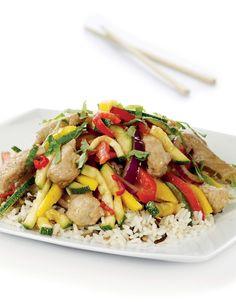 Wok med svinekjøtt Dinner Is Coming, Kung Pao Chicken, Wok, Food Porn, Cooking Recipes, Nutrition, Beef, Health, Ethnic Recipes