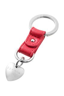 Esprit / key ring with a heart charm