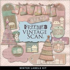 Far Far Hill - Free database of digital illustrations and papers: Freebies Winter Kit