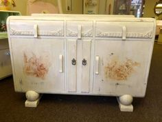 Vintage Art Deco Shabby Chic Sideboard in French by MyVintageGirls, £270.00