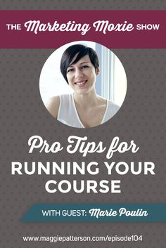 RUNNING AN ONLINE COURSE || On episode of the Marketing Moxie Podcast @Mariepoulin explains how she transitioned from 1:1 work to '1:many' work with an online course. Courses, programs, group coaching...all of these things are seen as the gold standard in the online world as they bring you passive income but here's what it actually takes to run a successful online program.