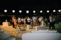 Beach party in Jamaica. Wedding celebration at Grand Palladium Lady Hamilton Resort & Spa. Jessica and Chuck big day in Jamaica. Justina Phippen Photography #BeachBash #Jamaica