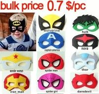 Wish   0305Children's Favourite Cosplay Superhero Party Mask Mascara Halloween Ironman Hulk Superman Spiderman Batman Style   leechenn