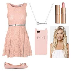 """""""School Picture Day Outfit"""" by alove1812 ❤ liked on Polyvore featuring Glamorous, Adina Reyter, Charlotte Tilbury, Melissa, Kate Spade, With Love From CA and BackToSchoolWithAubrey"""