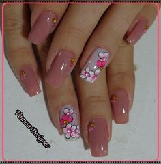Best Floral Nail art Designs – Watch out Ladies Beautiful Nail Art, Gorgeous Nails, Perfect Nails, Pretty Nails, Hot Nails, Hair And Nails, Floral Nail Art, Nails Only, Cute Nail Designs