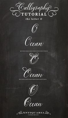 """Antiquaria: Calligraphy Tutorial 