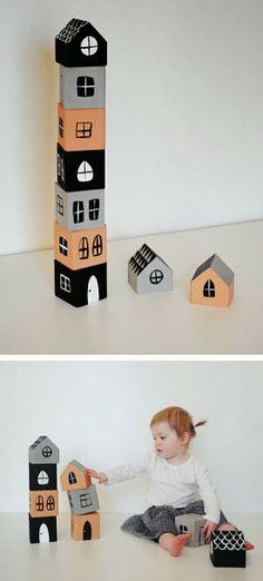 mommo design: HOUSES - DIY stacking blocks