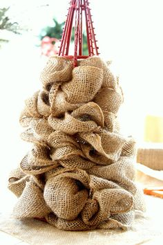 Christmas tree using fabric and styrofoam and stick pins diy what she does with it is perfect for solutioingenieria Gallery