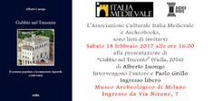 """MedioEvo Weblog: """"Gubbio nel Treceno"""" presentazione a Milano"""