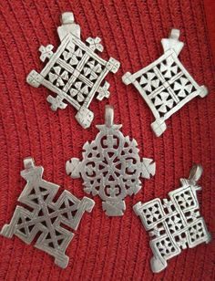 Wholesale Lot lHandcrafted Ethiopian Orthodox Coptic Cross Pendants African