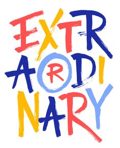 EXTRAORDINARY - PROJECT LIFE CARD - Jess Cruickshank › Miscellaneous Lettering