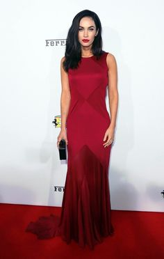 Actress Megan Fox was red-hot in a look she wore to Ferrari's 60th Anniversary in the USA gala held on October 11th, 2014, in Beverly Hil