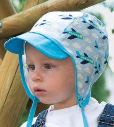 Schirmmütze oder Pilotenmütze nähen für Kinder - Schnittmuster und Nähanleitung via Makerist.de