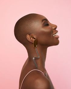 Michaela Coel for The Guardian. Images by Rosaline Shahnavaz. Black Girl Magic, Black Girls, Hair Afro, Natural Hair Styles, Short Hair Styles, Meagan Good, Bald Women, African Beauty, Beautiful Black Women