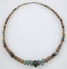 Beaded necklace. 500–600 AD, made in Niederbreisig, Germany (Frankish)