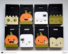 Create cute Pumpkins for your Mama Elephant Favor Bags! The Pumpkin Accessory works with Favor Bag. Approximate Measurements: Pumpkin Frame x Halloween Party Favors, Halloween Treat Bags, Halloween Cards, Halloween 2017, Mama Elephant Stamps, Elephant Gifts, Bunny Bags, Holiday Gift Tags, Sachets