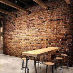 Retro 3D Brown Brick Wall Mural
