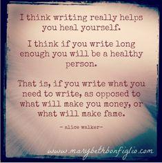 marybethbonfiglio - Blog - Dear Me: WritingHeals.