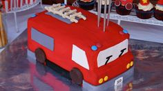 Fireman Party Ideas | Fire Truck Cake