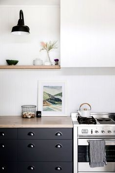 Country-style kitchen from interior stylist's tree-change to the NSW Central Coast. Styling: Natalie Walton | Photography: Chris Warnes | Story: Australian House & Garden