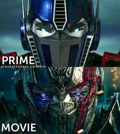 "Polubienia: 4,657, komentarze: 33 – Transformers Universe || 13K+ (@transformers.universe) na Instagramie: ""⚔️ Prime (Cartoon) and Movie Prime (TF5) - - - ♕ Transformers ♕ - - - #transformers…"""