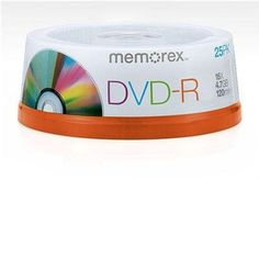 DVD-R 4.7 GB - 25 Spindle by Memorex. $22.76. 16x DVD-R 4.7GB Discs on 25 pack Spindle... The DVD-R 4.7GB 25 pack is used with DVD Recordable Drives that support DVD-R/RW blank media and certain DVD-RAM Recordable Drives that incorporate DVD-R as a write once solution.