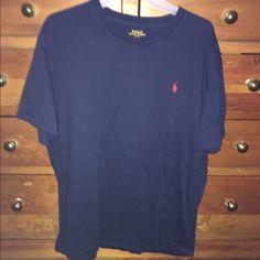 Men's Large Polo Ralph Lauren T-Shirt Men's Large Polo Ralph Lauren T-Shirt, short sleeve, navy blue, 100% cotton, excellent gently used condition Polo by Ralph Lauren Tops Tees - Short Sleeve