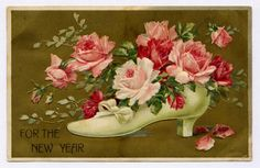 vintage happy new year postcard | Wishing you all a Happy and Creative New Year. Hope you can use this ...