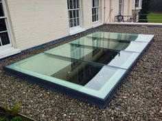 Add more daylight to your flat roof room with flat glass rooflights. These windows are designed to maximise the amount of natural daylight your room, and provide a clean minimalistic finish both inside and outside.